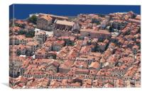 Old Dubrovnik town from above, Canvas Print