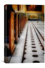 Floor and Pews, Canvas Print