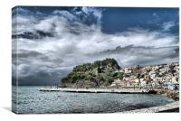 Storm Over Parga, Canvas Print