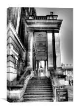 Steps to Painted Hall, Canvas Print