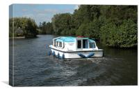 CRUISING ON THE NORFOLK BROADS, Canvas Print
