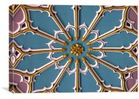 CEILING PANEL AT CHELMSFORD, ESSEX CATHEDERAL., Canvas Print