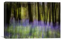 Bluebells abstract, Canvas Print