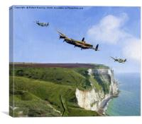Escort Home Battle of Britain Memorial Flight., Canvas Print