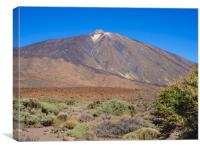View of Mount Teide, Tenerife, Canvas Print
