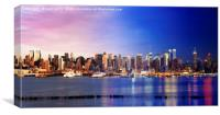 Manhattan Midtown from Day to Night, Canvas Print