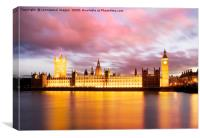 Big Ben and the Houses of Parliament , Canvas Print