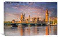 Big ben and the Houses of Parliament, Canvas Print