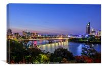 Night time on the Brisbane River, Canvas Print