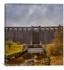 Claerwen Dam Elan Valley, Canvas Print