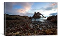Bow Fiddle Rock Scotland, Canvas Print