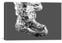 Heavy Metal Boots, Canvas Print