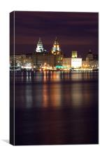 Liverpool River Mersey, Canvas Print