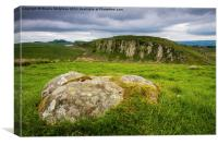Hadrians Wall & Peel Crags, Canvas Print