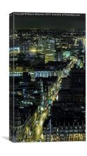 City of Manchester Deansgate , Canvas Print