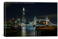 Thames and Tower Bridge, Canvas Print