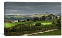Heaton to Shutlingsloe, Canvas Print