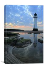 Lighthouse at Perch Rock, Canvas Print