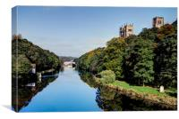 A Summers Day in Durham, Canvas Print