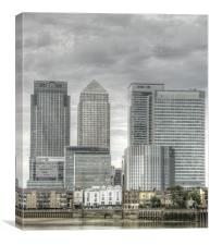 Docklands Canary Wharf HDR, Canvas Print