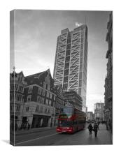 Heron Tower London black and white, Canvas Print