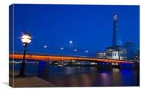 London Bridge Shard night, Canvas Print