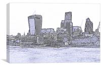The City of London skyline lines, Canvas Print
