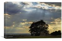 Hadleigh Castle storm clouds HDR, Canvas Print