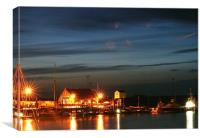 Wells next the Sea at night, Canvas Print