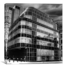 Express news paper building, Canvas Print