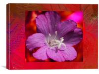 Flowers in the glass frame, Canvas Print