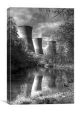 Power Station Ironbridge BW, Canvas Print