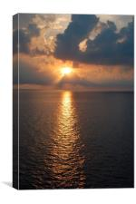 Caribbean Sunset, Canvas Print