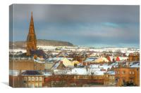 Kelso in the Snow, Canvas Print