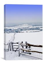 VIEW FROM SOUTH DOWNS, Canvas Print