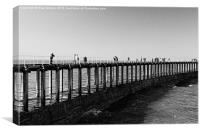 Whitby Harbour Wall, Canvas Print