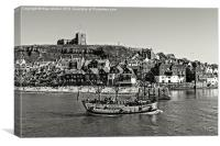St Marys Church and Galleon Whitby, Canvas Print