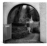 Archway in Portmerion, Canvas Print