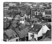 Whitby Roof Tops, Canvas Print