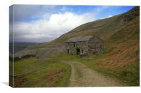 Stone Cottage,Yorkshire Dales, Canvas Print