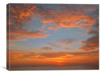 sunset in thailand, Canvas Print