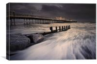 Worthing Pier Storm Force, Canvas Print