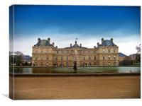 palace in park, Canvas Print