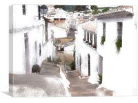 Typical Spanish Street, Canvas Print