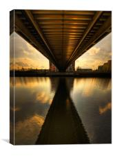 Under The Bridge, Canvas Print