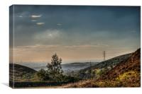 Greater Manchester, From the moors above Stalybrid, Canvas Print