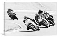 Motorcycles at Oulton Park Circuit, Canvas Print