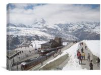 Gornergrat Station, Switzerland , Canvas Print