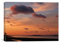Estuary Sunset , Canvas Print