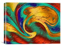 Frog - On The Waves, Canvas Print